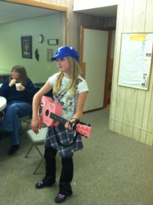 This was years ago on Halloween (i was a singer if you haven't noticed) someone wanted me to play them a song.
